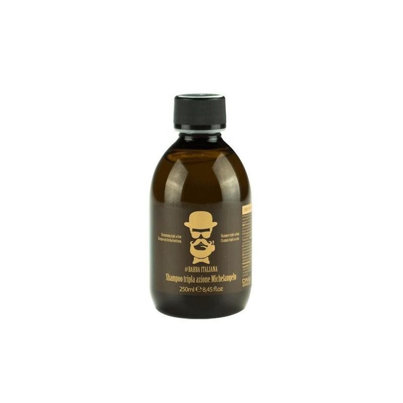 Šampūnas plaukams nuo pleiskanų Barba Italiana Tri - Action Michelangelo, BI007, 250 ml