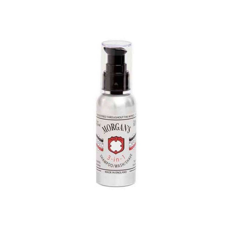 Daugiafunkcė priemonė plaukams ir kūnui Morgan's Pomade 3 in 1 MPM029, šampūnas, prausiklis ir priemonė skutimuisi viename, 100 ml