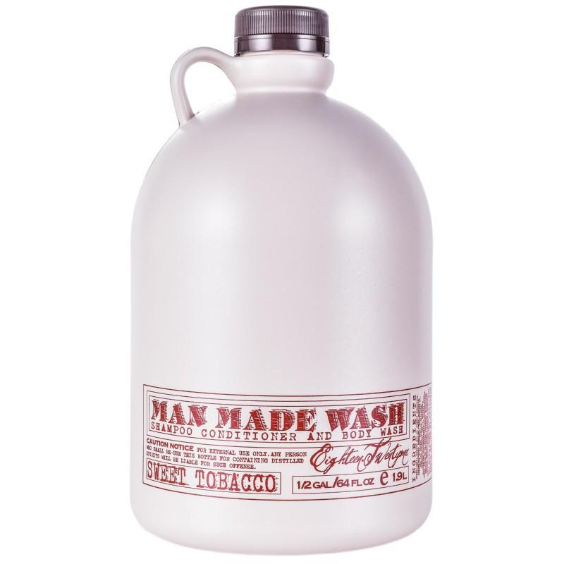Daugiafunkcė priemonė vyrams 3 in 1:  stiprinamasis šampūnas, kondicionierius ir kūno prausiklis viename 18.21 Man Made Wash Sweet Tobacco WSH64ST, 1900 ml